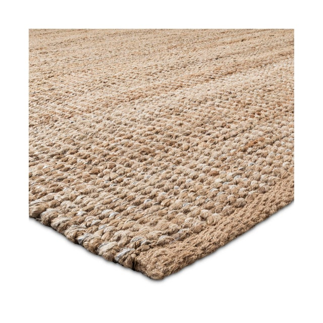 Silver Lurex Natural Weave Area Rug - 5′ × 7′ - Image 3 of 3