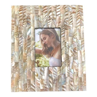 Shell Inlay Gold Color Mother of Pearl Frame for 4x6 Pictures