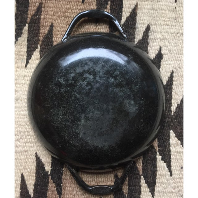 Small Blue Enamel Paella Pan For Sale - Image 4 of 7