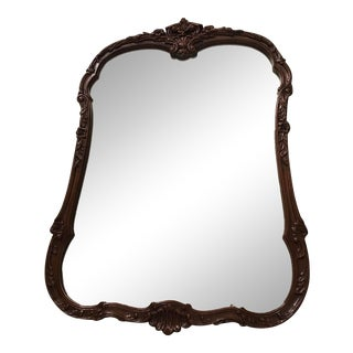 Mid 20th Century Louis XV Style Shell Wood Mirror For Sale