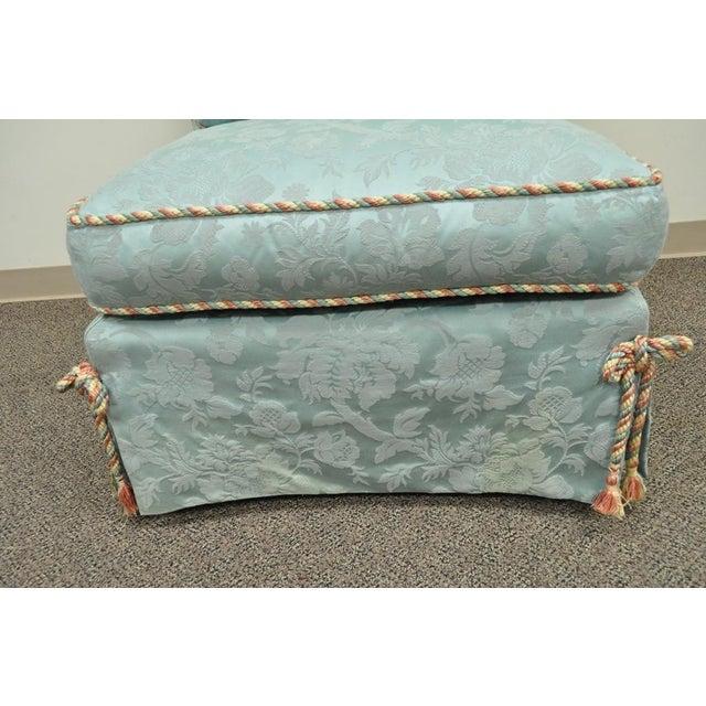 Vanguard Furniture Rolled Back Blue Upholstered Slipper Chair - Image 8 of 11