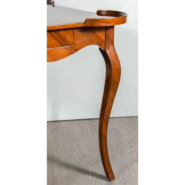 Brown Exceptional Art Deco Game Table With Exotic Burled Walnut Inlay For Sale - Image 8 of 11