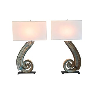 19th Century Architectural Elements Re-Purposed as Lamps, a Pair