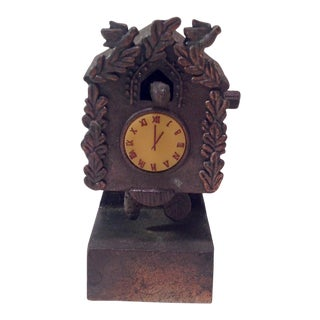 Vintage Cuckoo Clock Pencil Sharpener For Sale