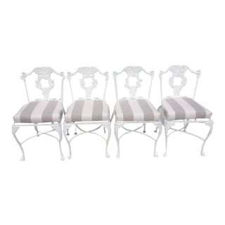 Garden Dining Chairs With Sunbrella Cushions - Set of 4 For Sale