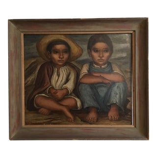 Grace Greenwood Wpa Mexican Muralist Painting For Sale