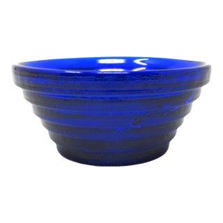 1992 Blenko Small Step Bowl, Model 925s, Cobalt Blue For Sale