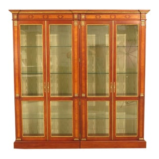 John Widdicomb Russian Empire 4 Door Curio Cabinet