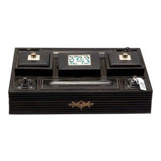 Anglo Raj Ebony & Bone Accents Desk Set