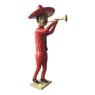 1960s Paper Mâché Horn Player. Made In Mexico For Sale