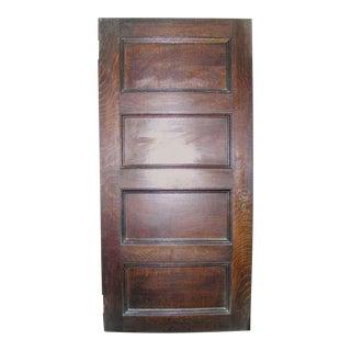 Interior Four-Panel Quartersawn Oak Door