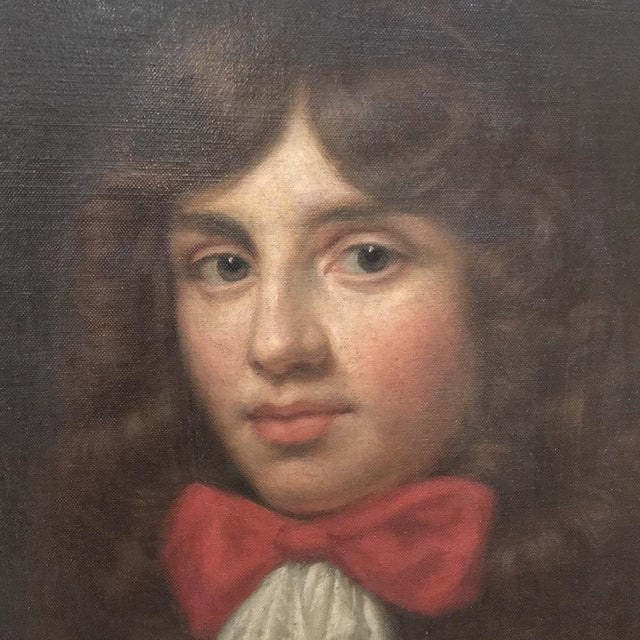 18th Century Framed Oil Portrait on Canvas For Sale - Image 4 of 12