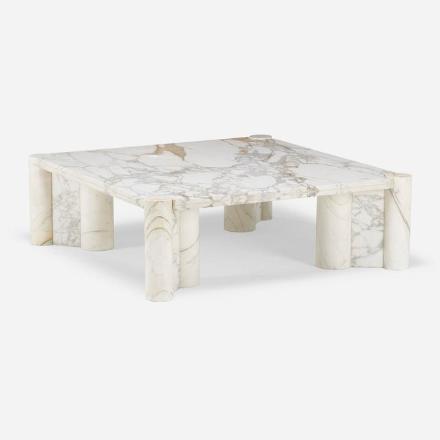 Mid-Century Modern Gae Aulenti for Knoll Marble Coffee Table For Sale - Image 3 of 5