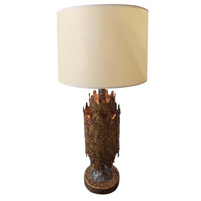 Brutalist Table Lamp by Tom Green for Feldman For Sale
