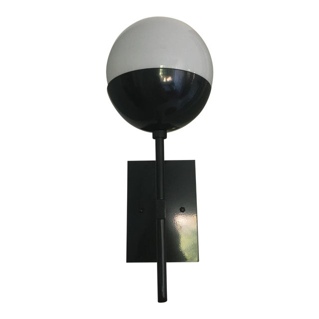 Enamel Black Enamel Sconces - Set of 3 For Sale - Image 7 of 7