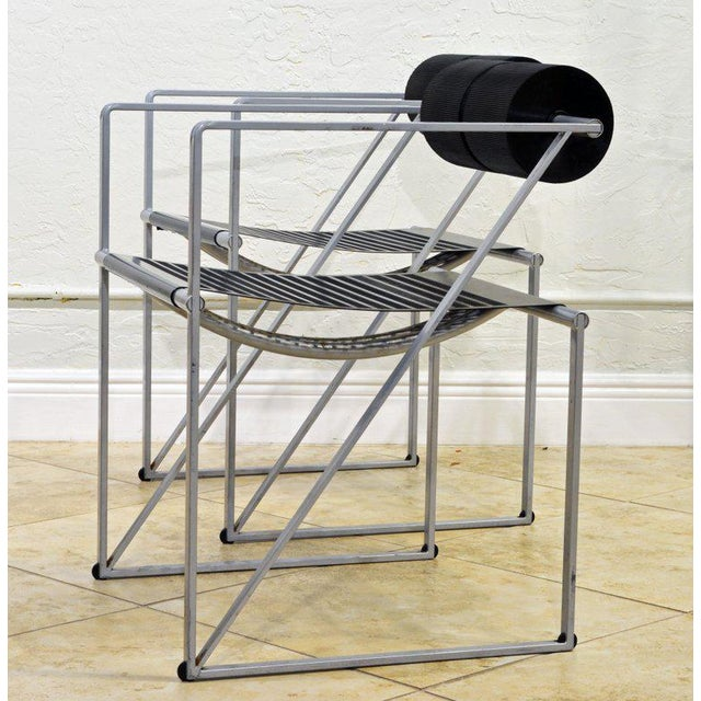 Pair of Seconda 602 Armchairs Designed by Architect Mario Botta for Alias, Italy For Sale - Image 12 of 13