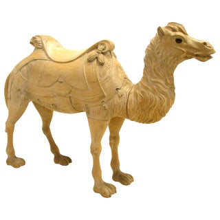 19th Century Carnival Wooden Camel Carousel Animal For Sale