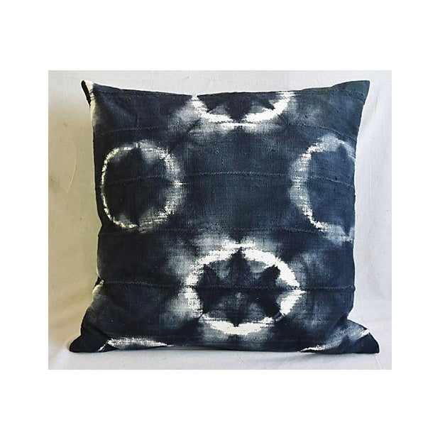 """Early 21st Century Bohemian Chic Jumbo 32"""" Black, Gray & White Abstract Tribal Pillow/ Floor Cushion For Sale - Image 5 of 8"""