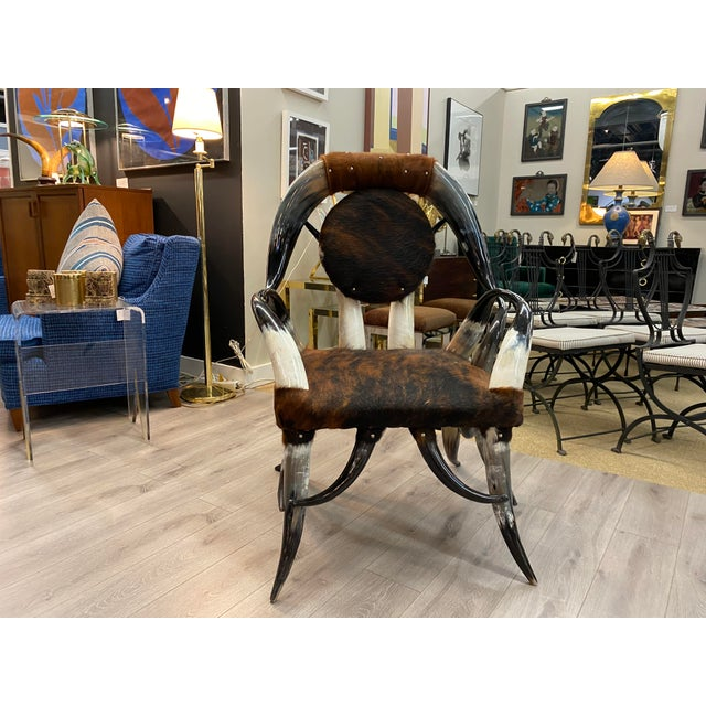 Western Horn Chair For Sale - Image 10 of 10