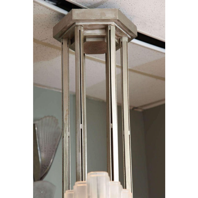 Large and Important Art Deco Chandelier by Sabino For Sale - Image 4 of 9