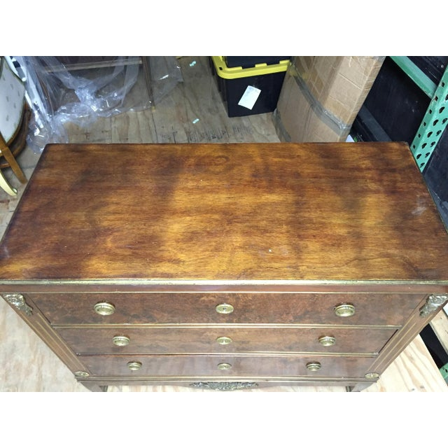Empire Empire Style Mahogany & Burl Commode For Sale - Image 3 of 7