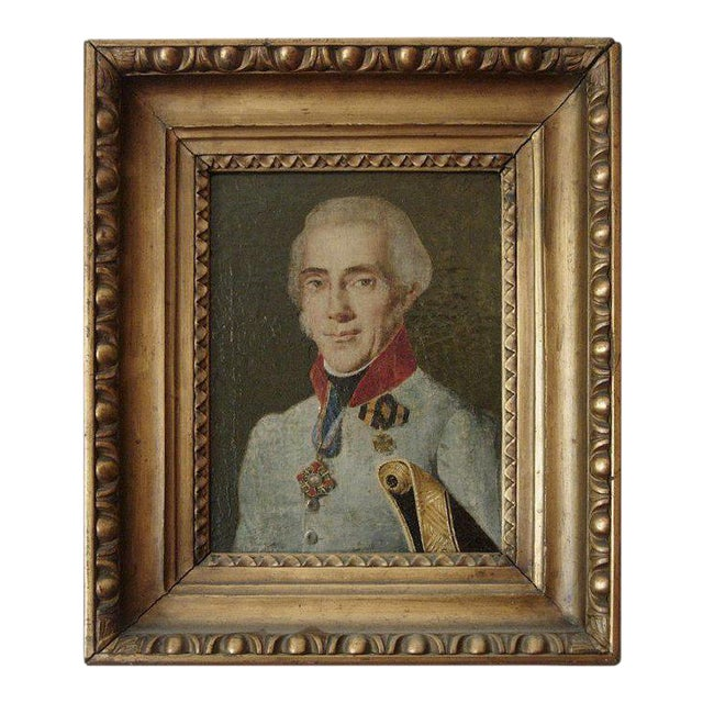 19th Century Portrait of a French Officer For Sale