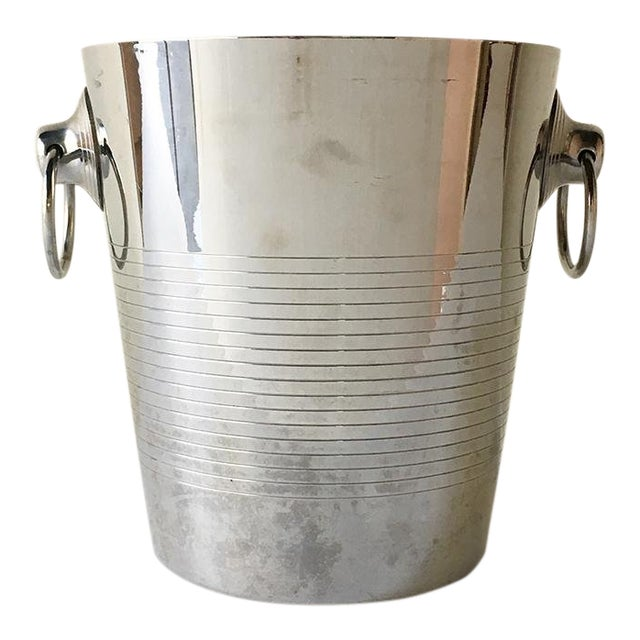 A French Stainless Steel Ice Bucket by Letang Remy For Sale