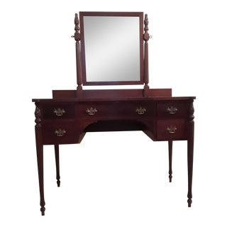 19th Century Traditional Dressing Table Heirloom With Stool - 2 Pieces For Sale