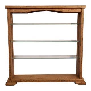 Italian Solid Oak Shelf For Sale