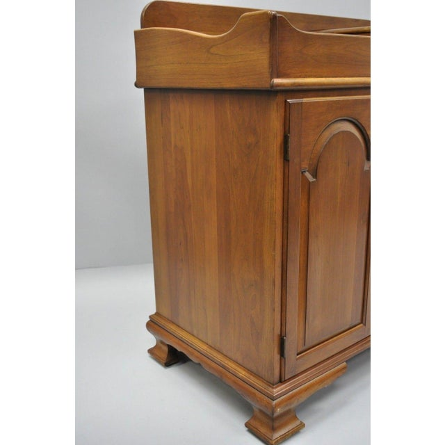Pennsylvania House Solid Cherry Wood Colonial Drysink Dry Sink Cabinet Server For Sale - Image 9 of 12