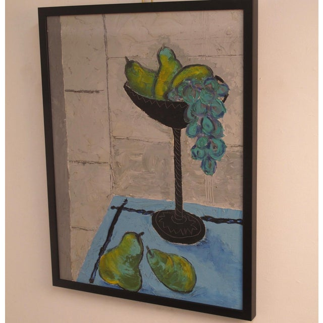 Grapes and Pears Still Life Painting For Sale In San Francisco - Image 6 of 7