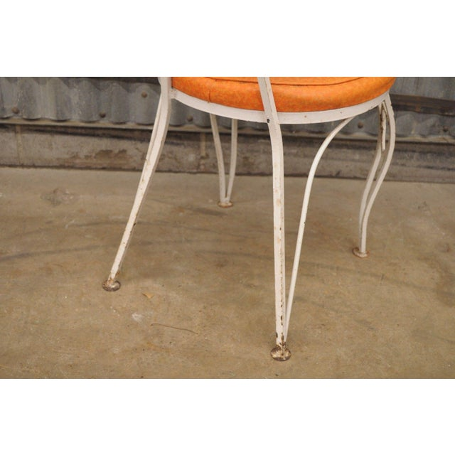 Vintage Wrought Iron Patio Side Chair For Sale In Philadelphia - Image 6 of 9