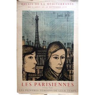 "1958 Vintage Bernard Buffet ""Les Parisiennes"" Poster Printed by Mourlot For Sale"