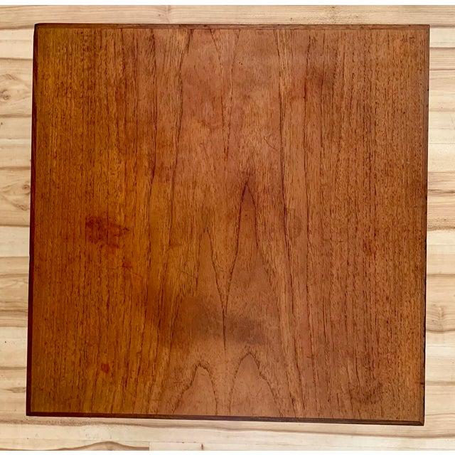1960s Danish Modern Hans Olsen Teak Side Tables - a Pair For Sale In Sacramento - Image 6 of 11