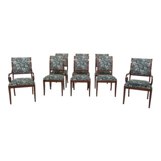 Set of 8 Kindel Neo Classical Mahogany Dining Room Chairs For Sale