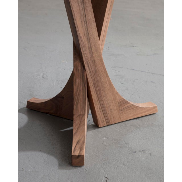 """Contemporary """"Lewis"""" Stool With Handmade Walnut Frame and Handmade Ceramic Detail For Sale - Image 3 of 6"""