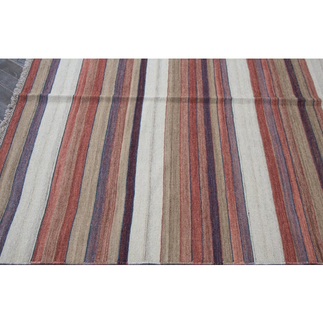 "Apadana - Modern Kilim Rug, 5'8"" x 8'1"" For Sale - Image 5 of 7"