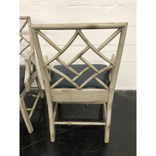 Hickory Chair Furniture Company 21st Century Vintage Hickory Chair Fretwork Chairs - a Pair For Sale - Image 4 of 8