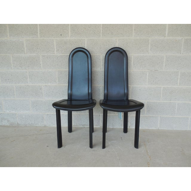 Vintage Artedi Italian Leather Chairs - A Pair - Image 2 of 7