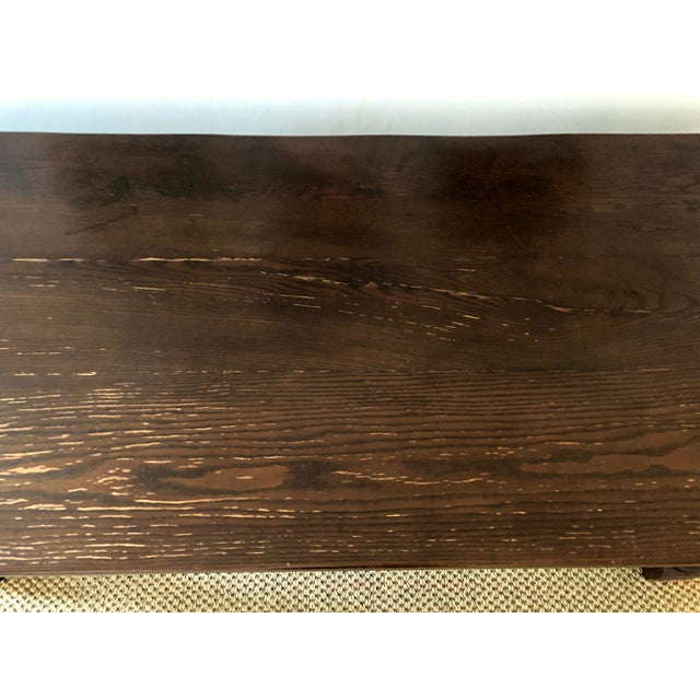 Jacobean Style Carved Oak Refectory Table For Sale - Image 11 of 13