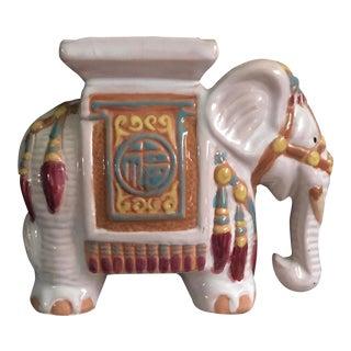 Vintage Pink Ceramic Chinese Elephant Ashtray For Sale