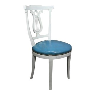 Set of Six Neoclassic Style Painted Dining Chairs For Sale