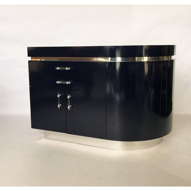Modern Pair of Large J. Wade Beam Nightstands For Sale - Image 3 of 11