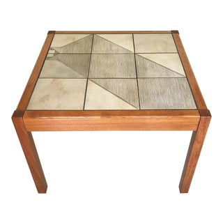 20th Century Danish Modern Gangso Mobler Teak and Tile Coffee Table For Sale