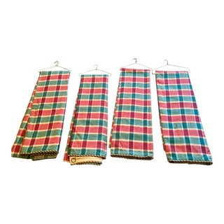 Fleece Lined Curtains Panels - Set of 4 For Sale