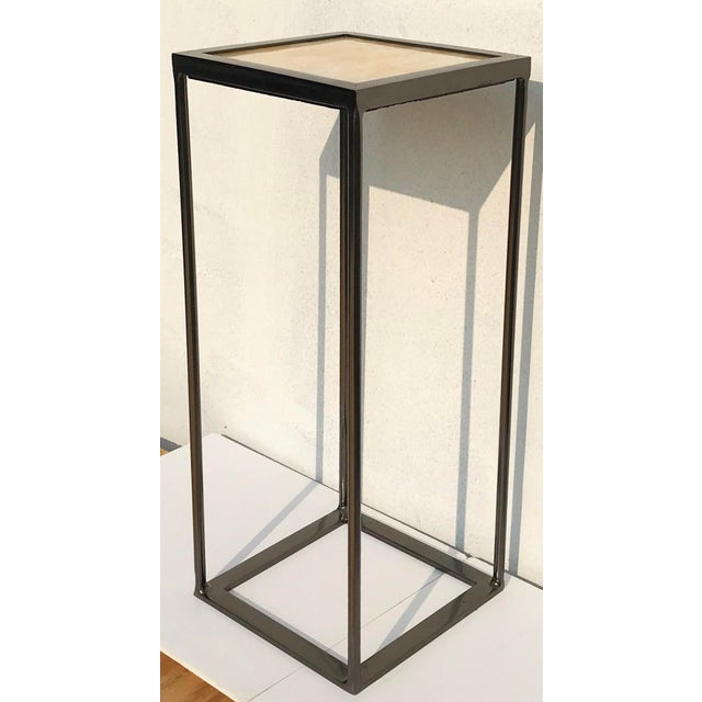 MarGian Studio Onxy and Black Nickel Plated Side Table For Sale - Image 4 of 6