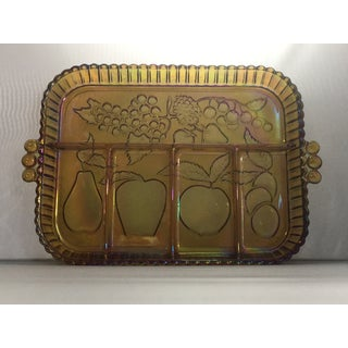Vintage Indiana Glass Iridescent Serving Tray Preview
