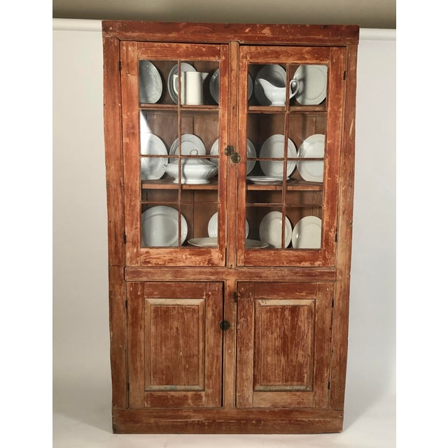 19th Century New England Country Corner Cupboard C. 1840 For Sale In Boston - Image 6 of 13