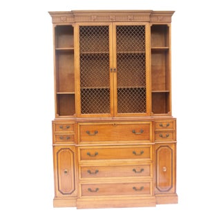 John Stuart Mid-Century Modern Pine Secretary With Hutch For Sale