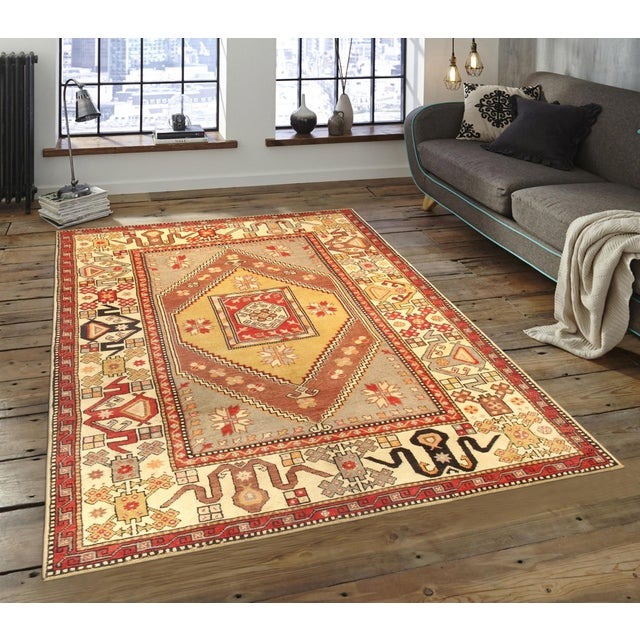"Islamic Pasargad Vintage Oushak Rug - 5' 7"" X 8' 9"" For Sale - Image 3 of 3"